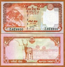 Nepal, 20 Rupees, ND (2010), P-62-New, UNC Everest, Deer