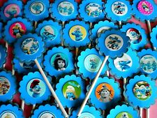 30 ct SMURF 2 CUPCAKE TOPPERS BIRTHDAY PARTY, BABY SHOWER FAVORS DECORATION 30