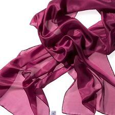 Seidenschal 100% Seide purpur Seidentuch weinrot 180 x 45 cm