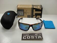 COSTA DEL MAR REEFTON POLARIZED RFT66 OBMGLP SUNGLASSES TORTOISE/BLUE GLASS 580G