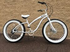 Fat Tire Beach Cruiser Bike-Ladies STORM TROOPER  ��  -7 SPEED-CUTOUT RIMS -SIKK