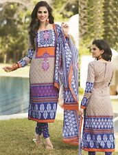 Elegant Cotton lawn  Printed Unstitched Dress Material Salwar Suit D.No AA005