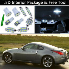 5PCS Xenon White LED Interior Car Lights Package kit Fit 03-2008 Nissan 350Z J1