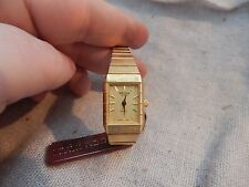 Vintage Gruen Gold Tone Wrist Watch with Tag