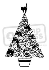 A7 'Cat Christmas Tree' Unmounted Rubber Stamp (SP004317)