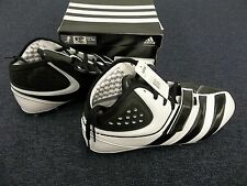 ADIDAS MALICE FLY FOOTBALL CLEATS SHOES WHITE BLACK SZ SIZE 13.5 MENS G22792 NEW