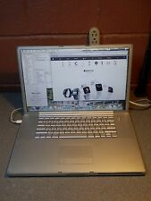 "Apple Powerbook G4 Aluminum A1052 17"" 1.33 Ghz 2.0GB 100GB SuperDrive OS 10 5 8"