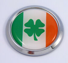 Ireland Irish Round Flag Car Chrome Decal Emblem bumper Sticker bezel badge