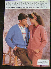 "Narvik Knitting Pattern: Mens & Ladies Cardigans, DK, 32-44"", N715"