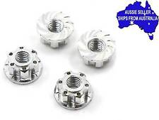 Silver  Super Light Weight 4mm wheel nuts for 1:10 RC Tamiya  Sakura  Wraith