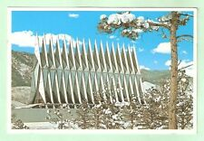 Cadet Chapel US Air Force Academy Colorado Springs Vintage Glossy Postcard