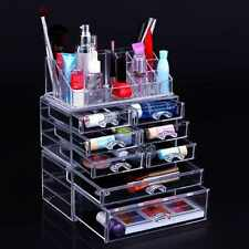 Makeup Storage Box Case Cosmetic Organizer Acrylic Holder Clear Drawers