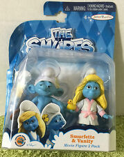 2013 Jakks Pacific The Smurfs Movie Smurfette & Vanity Movie Figure 2 Pack - NEW