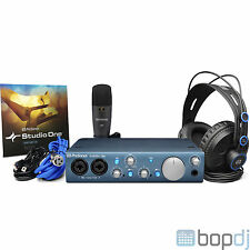 PreSonus AudioBox iTwo Studio - Mic Interface Software Headphones Audio Package