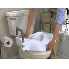 Raised Toilet Seat Lift 5in Height Riser Bath Safety Handicap w/Removable Arms