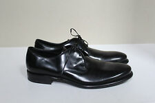 New sz 9.5 D Salvatore Ferragamo Stefano Plain Toe Derby BLACK Leather Men Shoe