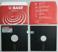 """BASF DISKETTE EXTRA 5.25""""-2S/2D two sided-double density sectors soft hardhole#d"""