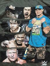 WWE T-Shirt John Cena Roman Reigns Brock Lesnar XL Randy Orton Dean Ambrose WWF