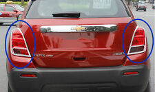 New Chrome Rear Tail Light Cover Trim For Chevrolet TRAX 2014 2015 2016