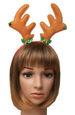 Christmas Reindeer Antlers with Bells & Holly Deeley Boppers Head Band.