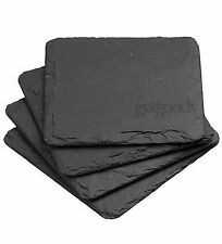 Set Of 4 Natural Slate Square Coasters Coffee Table Mug Place Mats Drink Coaster