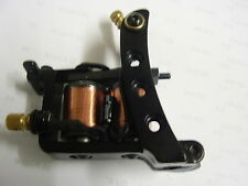 TATTOO MACHINE 10 WRAP IRON CUT BACK LINER,SET UP AND TUNED,BRILLIANT LINER