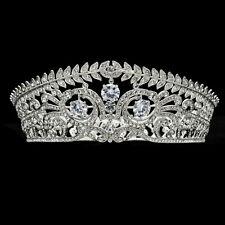Elegant Clear Flower Tiaras Crown Rhinestone Crystal Wedding Bridal SHA8696