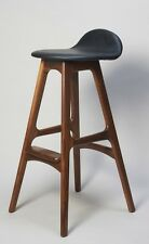 Erik buck danish modern walnut wood bar stool