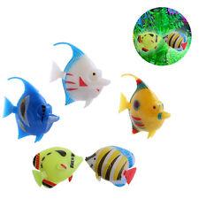 5Pcs Plastic Artificial Floating Vivi Fish Aquarium Fish Swimming Tank Ornament