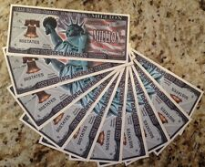 AMERICA THE BEAUTIFUL MILLION DOLLAR NOVELTY BANKNOTES LOT OF (10) GREAT GIFT !!
