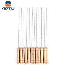 AOTU 12pcs BBQ Roasted Skewers Needles for Grill Camping Accessory