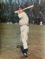 JOE DIMAGGIO Signed 16x20 Baseball PHOTO NY Yankees Team HOF vtg old RARE pic