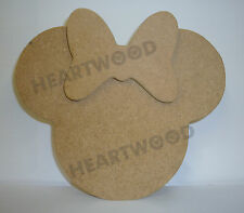 MINNIE MOUSE HEAD SHAPE IN MDF 145mm x 180mm/WOODEN CRAFT SHAPE/BLANK DECORATION