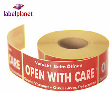 Open With Care Package/Packaging Postage Self-Adhesive Mail Labels Label Planet®