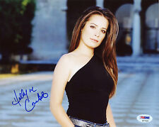 HOLLY MARIE COMBS SIGNED PSA/DNA COA SEXY 8X10 PHOTO AUTO AUTOGRAPHED PSA POSE 1