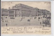 AK Wien I, Oper, Pferdestrassenbahn, 1902