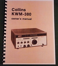 Collins KWM-380 Instruction Manual - Premium Card Stock Covers & In Color!
