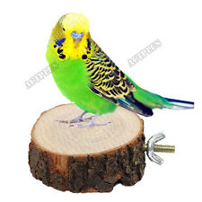 New Round Bird Parrot Hamster Wooden Cage Perches Stand Platform Hanging Toy ACT
