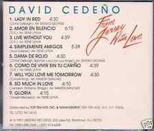 rare SALSA cd DAVID CEDEÑO From Jersey with love LADY IN RED live without you