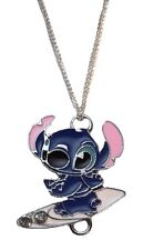 "Disney's Lilo and Stitch Surfing Pendant Necklace with 20"" Chain"