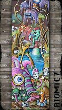 5x15 HUNGRY, Graffiti tattoo wall art panda owl mushroom bird egg elephant cute
