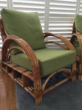 Vintage antique Bamboo/cane chair With Cushions
