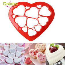 Hot  Heart Shape Plastic Bisuit Cookies Cutter Pasty Cake Decor Molud Mold Tool
