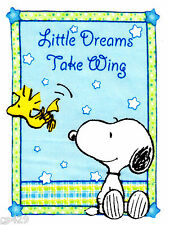"""4.5"""" BABY SNOOPY SWEET DREAMS   WALL SAFE FABRIC DECAL CUT OUT CHARACTER"""