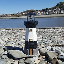 SOLAR POWERED LIGHTHOUSE  ROTATING LED GARDEN LIGHT HOUSE DECORATION ORNAMENT