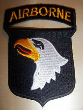 101st AIRBORNE/ SCREAMING EAGLES/PARATROOPER, EMBROIDERED PATCH, FREE UK POSTAGE