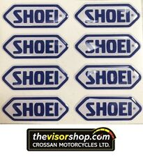 8 x Gel Type Non Fade Pair SHOEI Blue Motorcycle Helmet Visor sticker