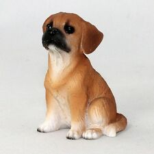 Puggle brown puppy TiNy Dog Figurine Miniature Collectible Mini Resin Statue New