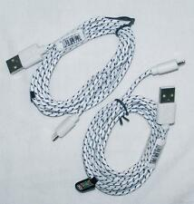 2 WHITE SIX FOOT IPHONE 5 & 6 CHARGING CABLE CORDS charge cord usb cell phone RD