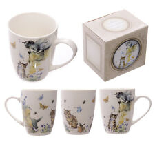 Porzellan Tasse Jan Pashley Down on the Farm Katze Kaffeebecher Kaffeetasse